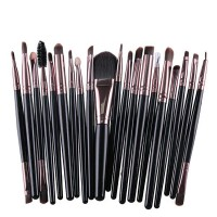 Twenty PCs Professional Makeup Brushes Set - Black Pink