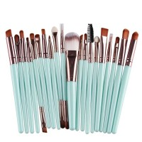 Twenty PCs Professional Makeup Brushes Set - Sky Blue