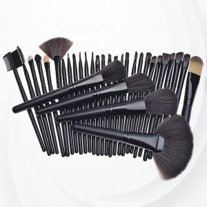 Twenty Four Piece Wooden Handle Luxury Brushes - Black