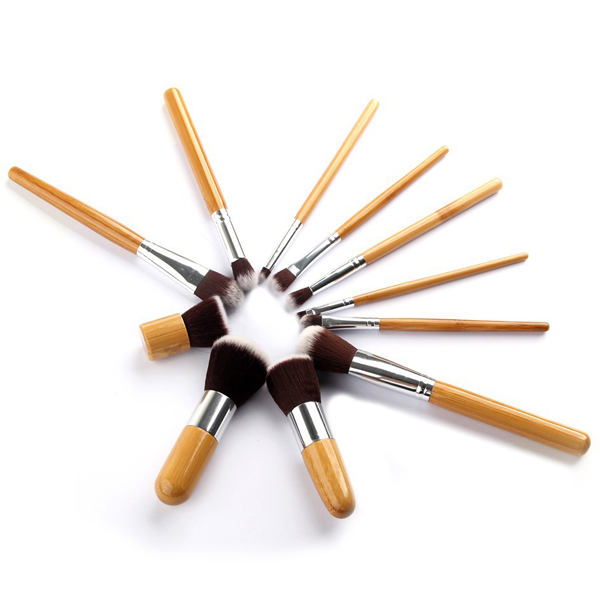 Eleven Pieces Professional Cosmetic Brush Set For Women
