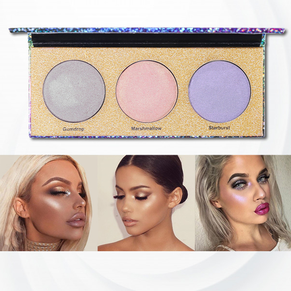 Trio Color Face Shades Light Eye Powder Palette