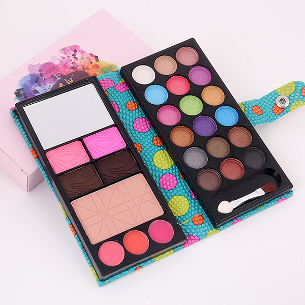 Cute  Foldable Pouch Makeup Palette Box - Green
