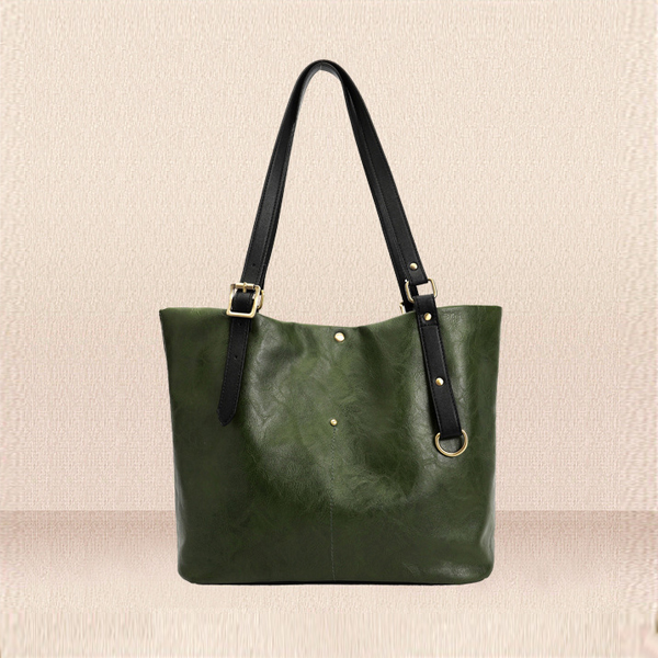 PU Textured Strong Hold Strappy Shoulder Bags - Green