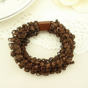 Multilayer Lace Textured Hair Band - Brown