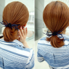 Floral Leather Rope Hair Band - Blue