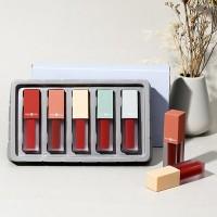 Long Lasting Five Lip Glaze Set Hot Matte Lipstick - Multi