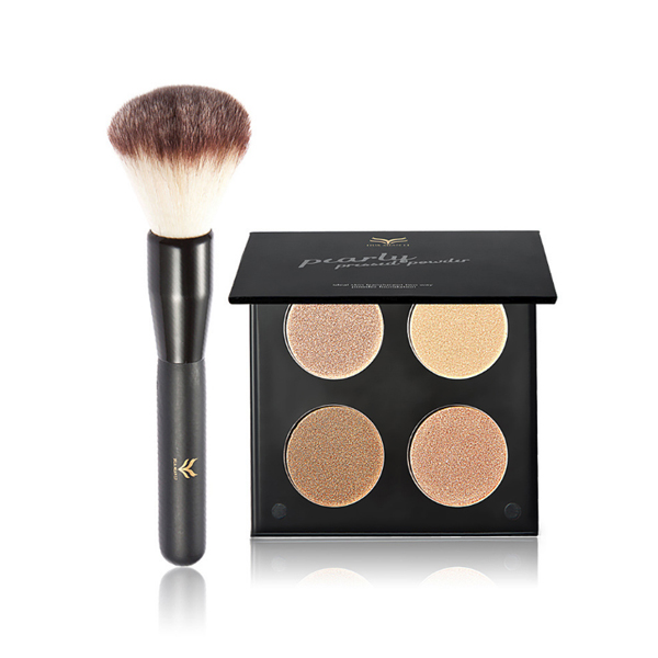 High-Quality Brush With Four Shades High Light Powder