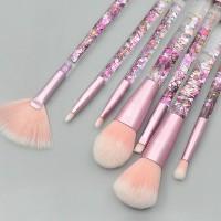 Fancy Transparent Makeup Brushes Set - Pink