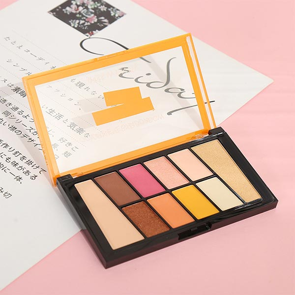 Long Lasting 10 Color Eye Shadow Tool Kit - Multicolor