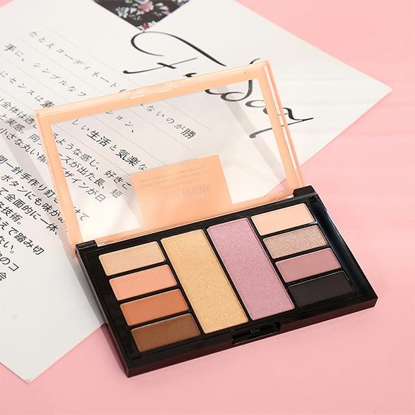 Long Lasting 10 Color Eye Shadow Kit - Multicolor
