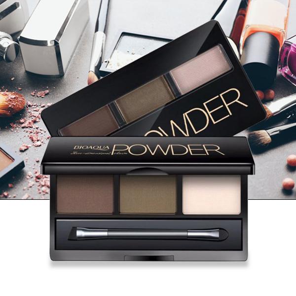 Three Shades Eyebrow Powder Coffee Series