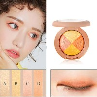 Waterproof Three Colors Eye Shadows - Light Brown