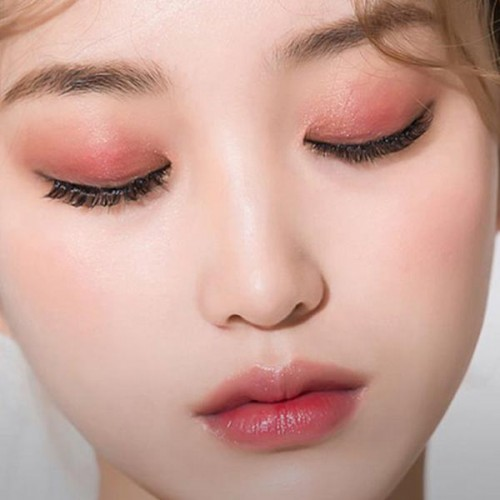 4 Color Silky Pearly Earthy Color Eye Shadows - Orange