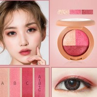 Three colors Kit Girl Peach Eye shadows - Hot Pink