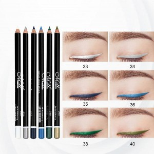 6 Colors Eyeliner Lip Eyebrow Eye-shadows Pencils - Blue