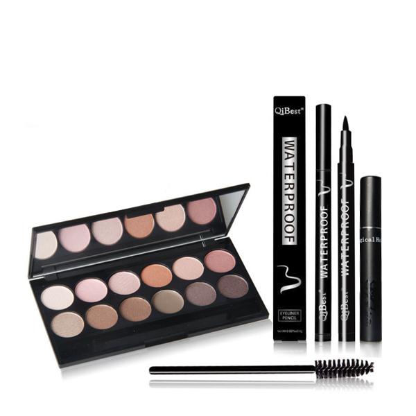 Eye Shadow Box With Eye Mascara And Eye Liner