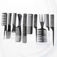 Ten Pieces Professional Hair Styler Combs Set
