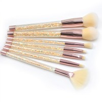 Transparent Fancy Makeup Brushes Set - Yellow