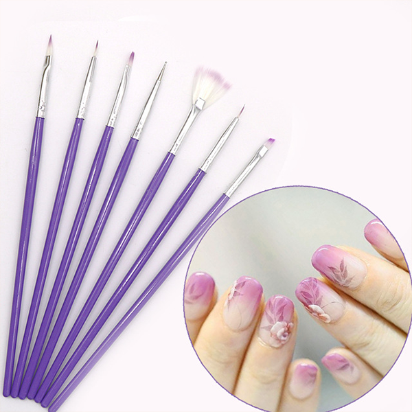 Seven Pieces Nail Art Brushes Set