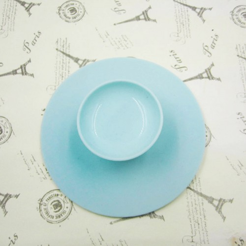 Round Shaped Silicon Brush Cleaner - Sea Green
