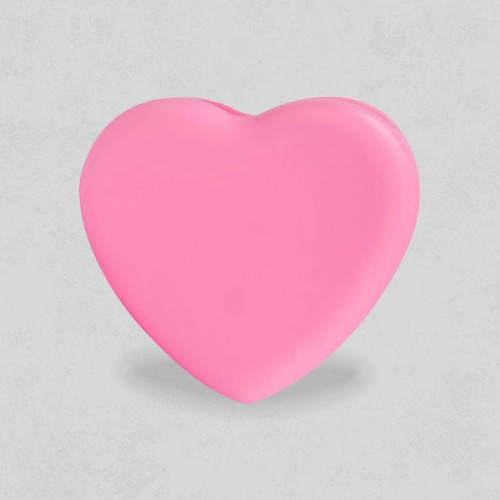Heart Shaped Silicon Brush Cleaner - Pink