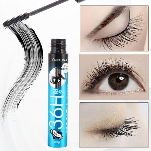 Long-lasting Soft Curling Black Waterproof Mascara - Blue