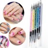 Five Pieces Nail Art Brushes Set