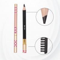 High-Quality Eye Brow Pencil With Brush - Black