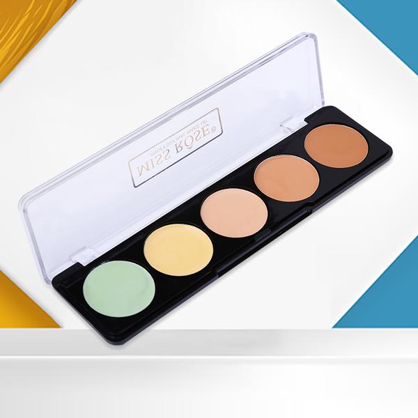Five Shades Different Color Face Blush Palette