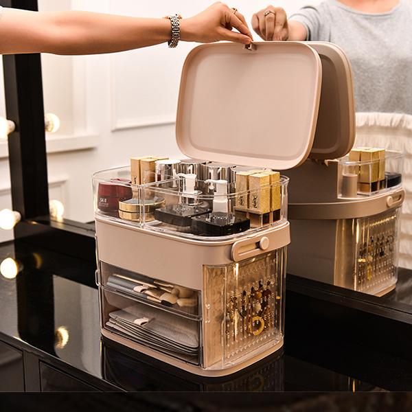Transparent Acrylic Jewelry Rack Cosmetics Storage - Gray