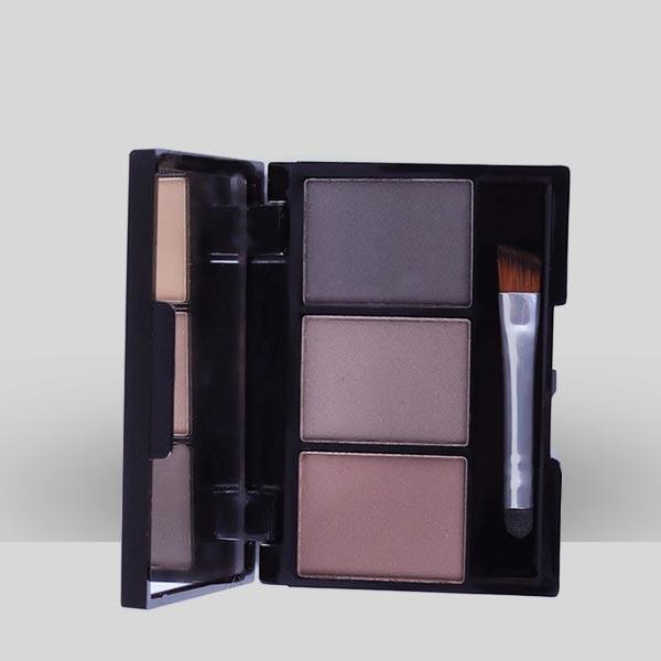 Long Lasting Three Color Powder Eyebrow Kit - Multi Color