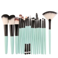 Eighteen PCs Professional Makeup Brushes Set - Light Green