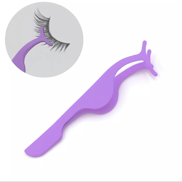 Stainless Steel Eye Lashes Clip - Purple