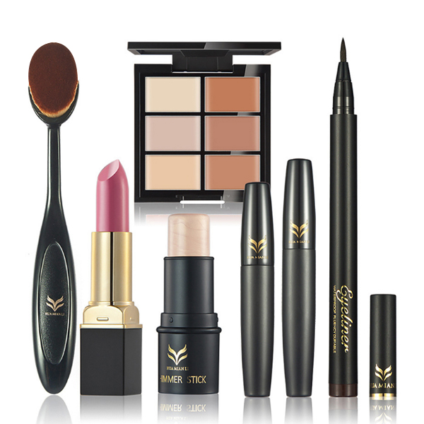 Trendy Makeup Tool Kit With Lipstick And Shimmer