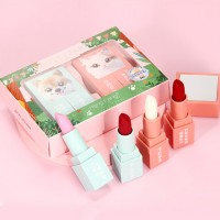 Cute Animal Lovers Prints High Quality Lip Stick Pairs - Shade Two