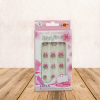Butterfly Pink And White Women Artificial False Nails