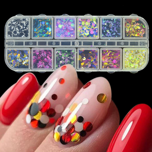 Multiple Decorative Shiny Glittered Nail Jewels