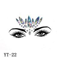 Face decoration colorful rhinestone face stickers - Code 22