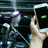 Car Humidifier With USB Charging Ports - Purple