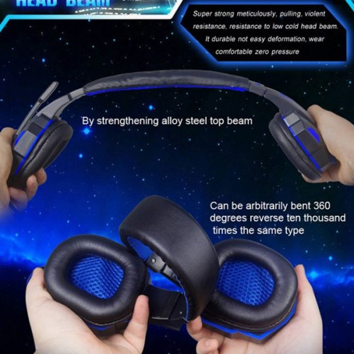 Music Boost High Quality LED Headphones - Red