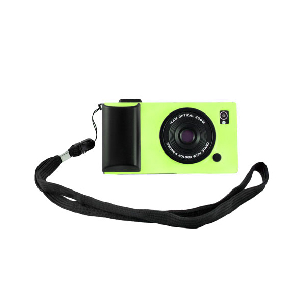 iCam Camera Skin Case Cover For iPhone 4 And 4S Green