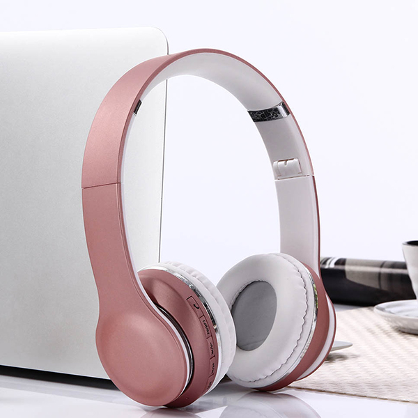 Wireless HiFi Stereo Bluetooth Headphones - Rose Gold