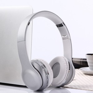 Wireless HiFi Stereo Bluetooth Headphones - Silver
