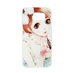 Girl Art Clear Design Back Cover Case For Samsung Galaxy S6
