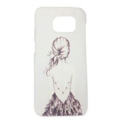 Clear Design Girl Back Art Cover Case For Samsung Galaxy S7