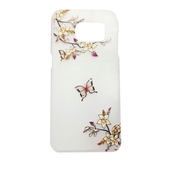Flowers Butterfly Clear Art Back Cover Case For Samsung Galaxy S7