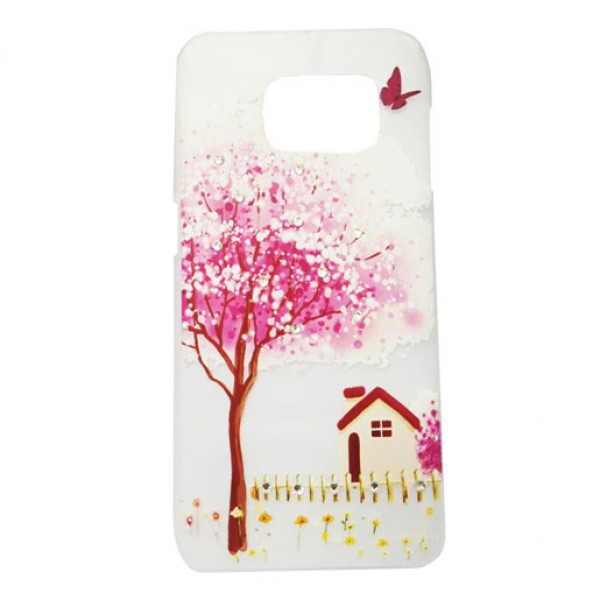 Tree Style Clear Art Back Cover Case For Samsung Galaxy S7