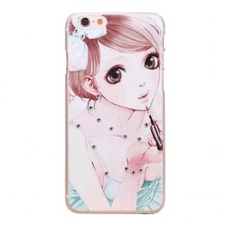 Girl Printed Clear Art Back Cover For Apple iPhone 6 and 6 Plus