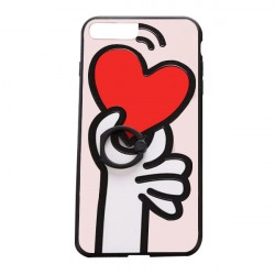 Lovely Heart Printed Cartoon Female Mobile Cover