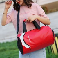 Fitness Large Capacity Diagonal Cross Travel Handbags - Red